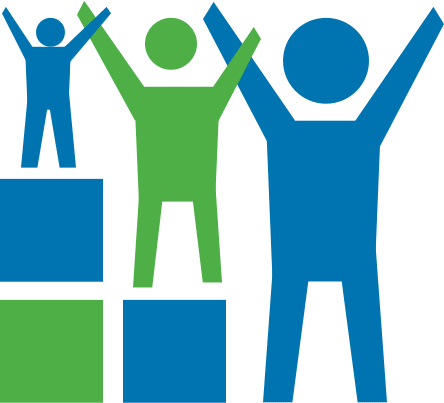 MH/0/25 Icon – Kinder, Teenager und Erwachsene auf Augenhöhe