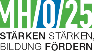 MH/0/25 Logo mit Schriftzug – Stärken stärken, Bildung fördern