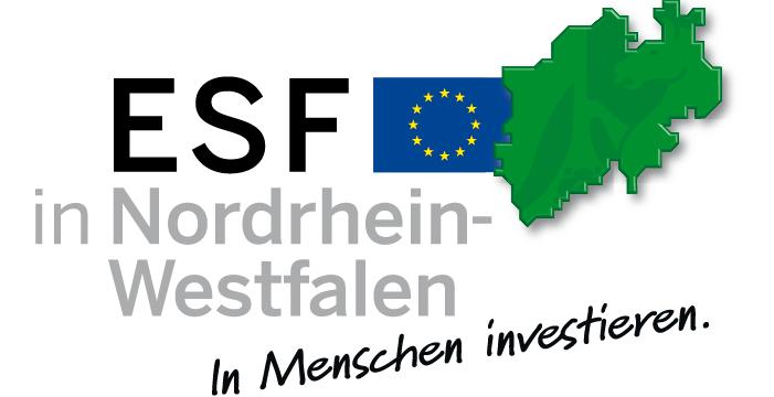 Logo ESF in Nordrhein-Westfalen